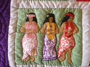Quilted Hula Girls