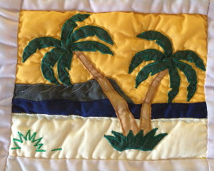 Quilted Palm trees